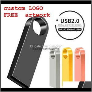 New Usb Flash Drive 64Gb 32Gb 128Gb Pen Drive 128 64 32 Gb Pendrive Waterproof Metal Silver U Disk Memory Memoria Usb Stick Aeftd Zyobf