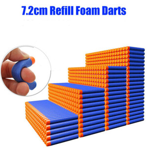 US Stock 7.2cm NERF N-Strike Elite Series Refill Blue Soft Foam Bullet Darts Gun Toy Bullet For Kids Toy Gun Blasters Gift