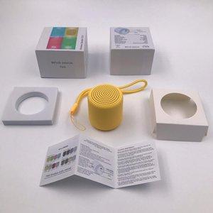 Inpoden wenig Spaß im Freien Lautsprecher Makaronfarben Metallfarbe Tragbare Lautsprecher Wireless Mini-Lautsprecher