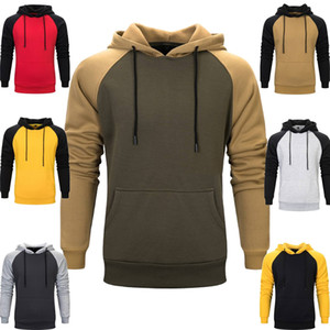 Mens Patchwork Hooded Sweatshirt Women Windbreaker Hoodies Casual Blouse Pocket Streetwear Male Casual Outwear Couples Pullover Walking Tops