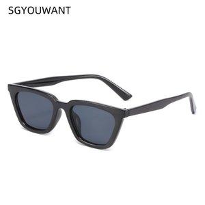 SGYOUWANT 2021 NUEVOS Gafas de sol Versátiles Ojo de gato Gafas de sol Personalidad Retro Pequeño Marco Sunsha Outdoor
