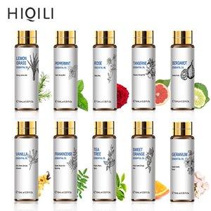 HiQili Orange Tea Tree Aceites Esenciales 10ML Difusor Aroma Oil Eucalyptus Vanilla Bergamota Lemongrass Rosemary Manzanilla Aceite