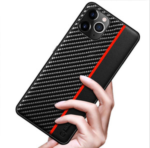 for Samsung S21 S20 Note 20 Ultra Case Carbon Fiber Leather Back Cover For Samsung S21 IPHONE 12 PRO MAX MINI