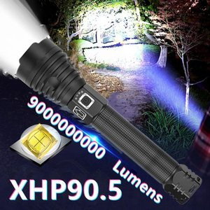 Flashlights Torches Super XHP90.5 High Power LED Rechargeable Torch Light Powerful Hunting 18650 Usb Tactical Lantern