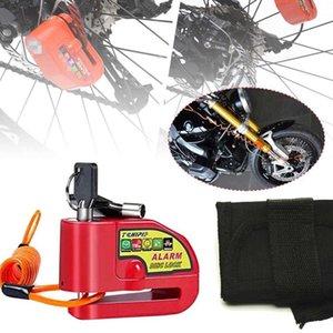 Велосипедный замок Сигнализация дисковый тормозной замок 110 дБ Громкая противоугонная сигнализация Водонепроницаемый для велосипедов Мотоциклы Скутер с напоминанием Быстрая доставка