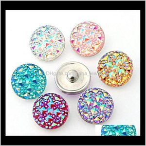 Cheap Wholesale 18Mm Ginger Snaps 7 Colors Round Resin Snap On Jewelry Fit Snaps Buttons Charm Bracelet Interchangeable Diy Jewelry Sd Gb1Pk