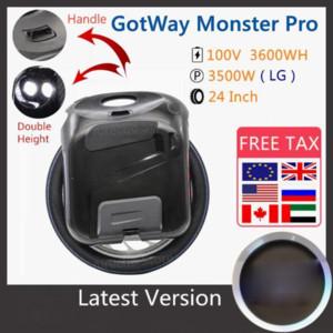 2020 NOUVEAU ORIGINAL GOTWAY MONSTER PRO Monycilcule 24 pouces 100V 3600Wh Pro Version Monster Self Self Scooter électrique