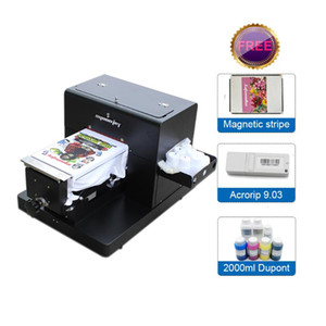 A4 size DTG t shirt printer with US brand textile ink for DuPont 2000ml for textile Jeans hoodies clothes printing machine