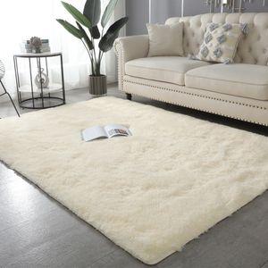 Nordic fluffy rugs for bedroom living room rectangle Large size plush anti-slip soft carpet