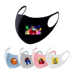 2021 Nuevo entre los Juegos de EE.UU. Designer Face Mascarilla Impresión Poliéster Tela Adultos Niños Cara Mascarilla Cubierta Boca Máscara DWA3761