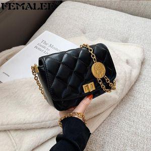 Lujo Color Sólido Diamante Lattice Flap Bolsos para Mujeres Moda Retrato Monedero Cuadrado Crossbody Bolsas Cadena Hombro Tote Bolsa