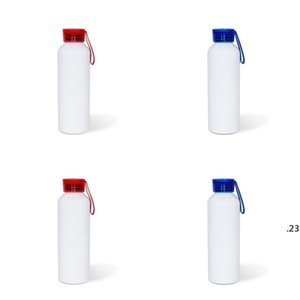 Sublimation Blank Tto Motion Kettle 750ML Boy Girls Colour Silicone Transparent Cover Aluminum Water Bottles DIY sea shipping FWD4976