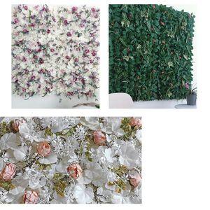 40x60см Искусственные растения Стена Зеленые Листья Трава Настенные Панель Открытый Газоны Ковролин Декор Свадебные Фон Партия Сад Цветок