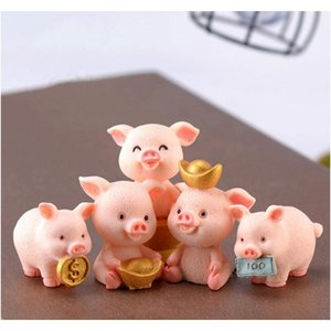 Decorative Objects Accents Décor Home & Drop Delivery 2021 Fortune Doll Ornament Pig Year Cartoon Pendant Miniature Figurines Accessory Fairy