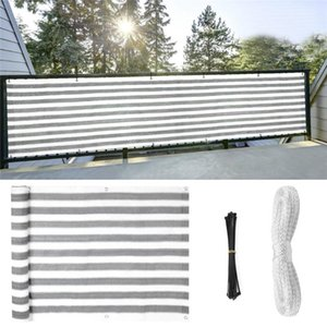 Shade Balcony Privacy Screen Fence Mesh For Windscreen Sun UV-Proof Wind Child Safe Protection Yard Cover 13.68