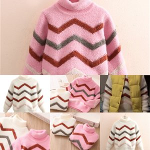 Winter Autumn New Warm Casual 3 4 5 6 7 8 9 10 11 12 Years Teenage High Neck Knitted Baby Kids Turtleneck Sweater For Girls 201103 SZ14