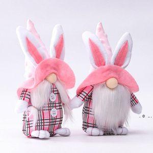 Yüzsüz Bunny Cüce Peluş Bebek Paskalya Bunny Gnome Hediye Kız Arkadaşı Karısı Anne Lover Çocuklar için Mutlu Paskalya Tavşan Bebek EWD5097