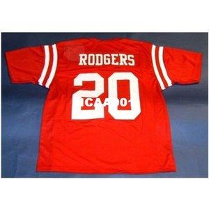 001 Neubaska Cornhuskers # 20 Johnny Rodgers Custom College Jersey Taille S-4XL ou personnalisée N'importe quel nom de nom ou numéro de numéro
