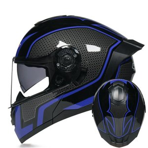 Motorcycle Helmets Helmet Flip Up Full Face Enduro Racing Tracker Casco Men Women Sportbikes Crash ATV Capacete De Moto Black