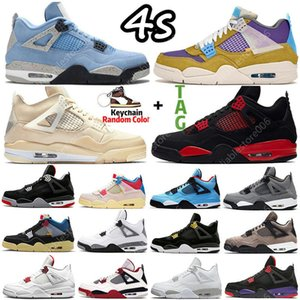Sail University Blue 4 4s Mens Basketball Shoes Sneakers Fire Red Thunder Oreo DIY Bred Black Cat Shimmer Guava Ice What the White Cement women Sports Trainers US 5-13