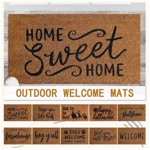 Tapetes coir boas-vindas tapetes de entrada de porta de entrada antiderrapante esteira de pé almofada de pé tapete de casa para o corredor banho cozinha chavat 60cmx40cmx0.7cm