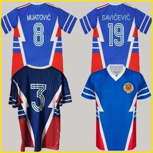 1990 1991 Jugoslawien Retro Soccer Jersey Weltmeisterschaft 8 Mijatovic 19 Savicevic Vintage Classic 90 91 Vintage Classic Football Hemd 1998