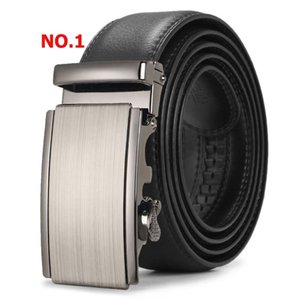 Automatic Buckle Black Belts Luxury Male Genuine Leather Strap Belts for Men Top Quality Belt Cummerbunds