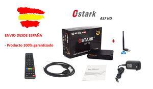 Ostark receptor satelite AS7 incluye Antena wifi HD FTA DVB-S2 HD 1080P con USB WIFI incluido satellite receiver