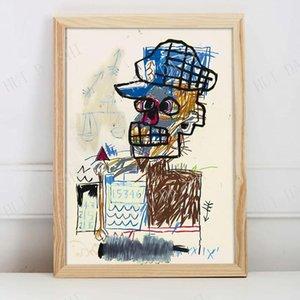 Pinturas Escalas - Cópia da arte de Basquiat, cartaz, arte da parede, jean Michel Basquiat, cartaz da exposição