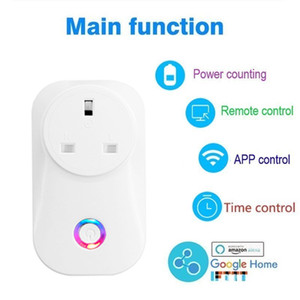 10A UK Plug Wireless Wifi Smart Socket Power WiFi remote control with Alexa Phones APP Remote Control by IOS Android