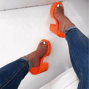 2021 Women Platform Summer Sandals Buckle Woman Running Shoes Candy Thick High Heels Ladies Shoes Fashion Female Sandalias
