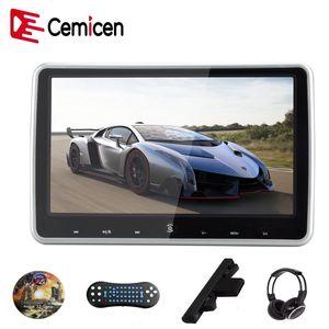 Monitor de reposacabezas del coche Cemicen 10.1 pulgadas con pantalla de video DVD de pantalla LCD digital HD con reproductor de video de audio USB / SD / HDMI / IR / FM Transmisor / juego