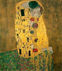 Gustav Klimt - Абстрактные молодые влюбленные вместе Home Decor Русцы / HD Печать Маслом живопись на холсте Настенное искусство Холст Фотографии 035