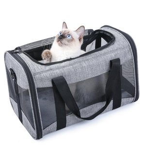 Pet Carrier for Cats Dogs High Quality Oxford Grey Colors Collapsible Small Cats Puppies Carrier for 13 lbs