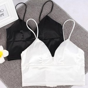 Camisoles & Tanks Women Strap Solid Sexy Bikini Crop Tops Tank Top Underwear Bralette Wirefree Bra