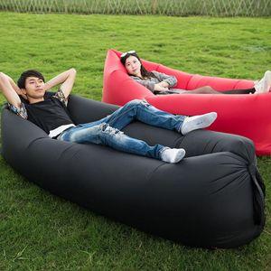Colchón de cama de aire Colchón Deportes Camping Viajes Viajes Otoño Inflable Sofá Mat Bolsa Lazy 3 Temporada Ultralight Beach Pastillas de dormir
