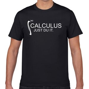 الرجال القمصان قمم قمم تي شيرت الرجال حساب التفاضل والتكامل فقط du it الرياضيات تصميم الأسود المهوس طباعة الذكور الزى XXXL