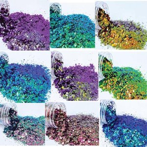 Nail Glitter (BSC7150) - Chunky Mix Color Shifting 2.7 Ounce In Resealable Bag(50G) Art   ,TY3445