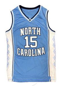 Доставка от США Винс Картер № 15 Баскетбол Джерси Северная Каролина Tar Каблуки Требовые изделия Мужчины Все сшитые синий Размер S-3XL Высочайшее качество
