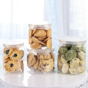 Одноразовые чашки соломинки 10шт круглые банки упаковочные коробки печенье герметичная банка Nougat цилиндр пластиковый десерт многогранник мороженое торт с Li