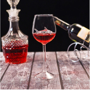 Originality Goblet Shark Red Wine Standing Cup Elegance Fashion Accesories Tools Drinking Woman Man High Borosilicate Glass Bar 10 8ly K2