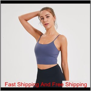 Lu-83 Solid Color Women Yoga Bra Shirts Sports Vest Fitness Tops Sexy Underwear Lady Top qylwAa pets2010