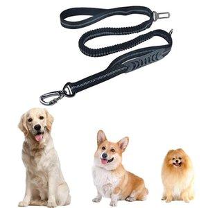 Cuello de correa de perros universales ajustable Strong PET PER PERRIR PRODUCTOR Cuerda correa con el plomo reflexivo de la hebilla para el cinturón de seguridad del coche Suministros para mascotas