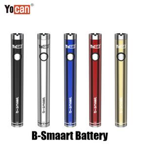 Authentic Yocan B-Smart Battery 320mAh Slim Twist Preheat VV Bottom Adjustable Voltage E Cig 510 Vape Pen With Display Stand 100% Original