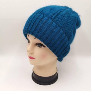 new simple fur Beanie Hat for Women Winter Skullies Warm wool Cap Gorros Female Cap