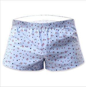 New Sexy Mens Boxers 100%contton casual shorts home shorts Low waist hot pants S M L Household print men