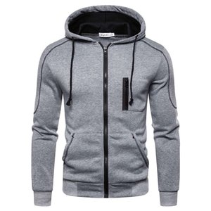 2021SS New men sports cardigan hooded sweater autumn and winter fashion hooded jacket men sweater size m-3xl