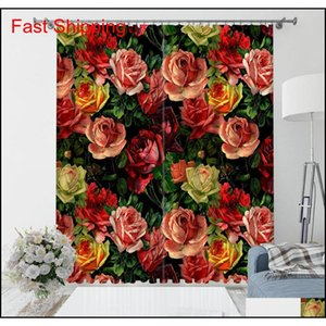 Luxury Blackout 3d Window Curtains For Living Room Bedroom Morden Flower Curtains 3d Stereo jlllrz xhhair