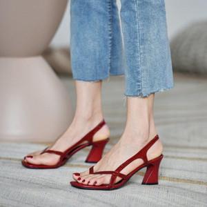 Sandals Straps Espadrilles Platform Fashion Womens Shoes 2021 Square Toe Summer Heels Suit Female Beige High Luxury Girls Elast