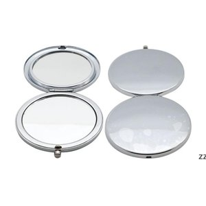 70MM Simple Metal Makeup Mirror Travel Portable Double Sided Folding Mirrors Creative Christmas Gift HWF10179